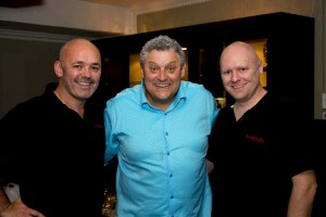 Evan Roberts and Duncan Bonella with Comedian Barry Hilton