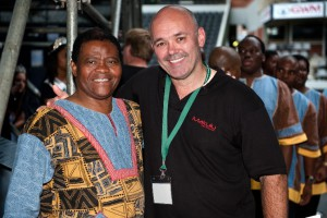 Evan Roberts with Joseph Shabalala (Ladysmith Black Mambazo)