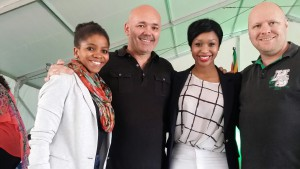 Makulu Team with Minnie Dlamini